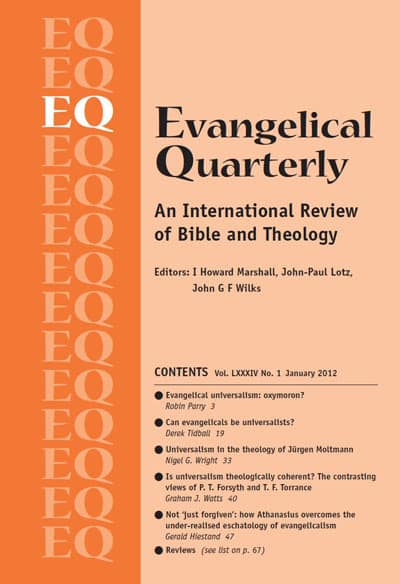Evangelical Quarterly Vol 84 (2012)
