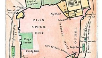 Map of Jerusalem to Illustrate the Book of Ezra