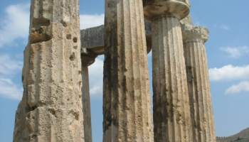The ruins of ancient Corinth