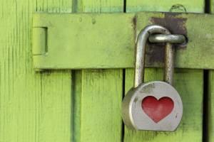 lock, padlock, heart
