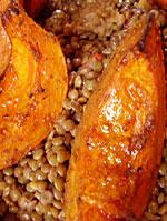 Bibliocook.com - Roasted Squash and Puy Lentil Salad