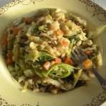 Chicken, Mushroom and Barley Stew with Spring Greens