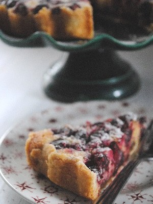 Cranberry, Frangipan and Mincemeat Tart