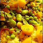 A mountain of couscous: Seven Vegetable Couscous