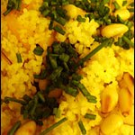 Couscous to accompany a Moroccan-style meal: Spiced Squash and Couscous Salad