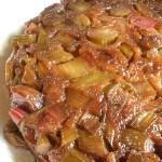 In season: Rhubarb Rosewater Cake