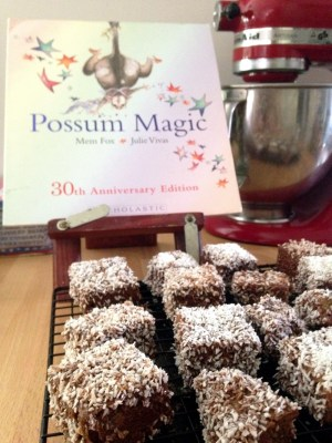 Fabulous fictional food in children's books - Possum Magic - Lamingtons