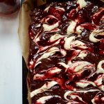 St Patrick's Day Bake: Irish Stout Blackcurrant Cheesecake Brownies
