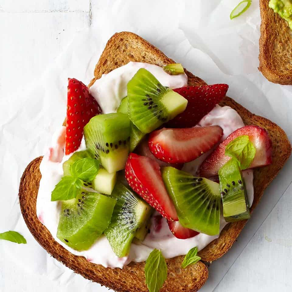 EatingWell Strawberry-Kiwi Cheesecake Toast