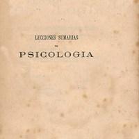 LECCIONES SUMARIAS DE PSICOLOGÍA