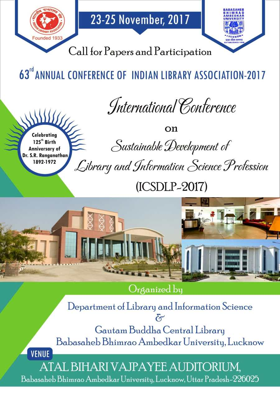 Call For Paper and Participation 63rd Annual Conference of ILA-2017