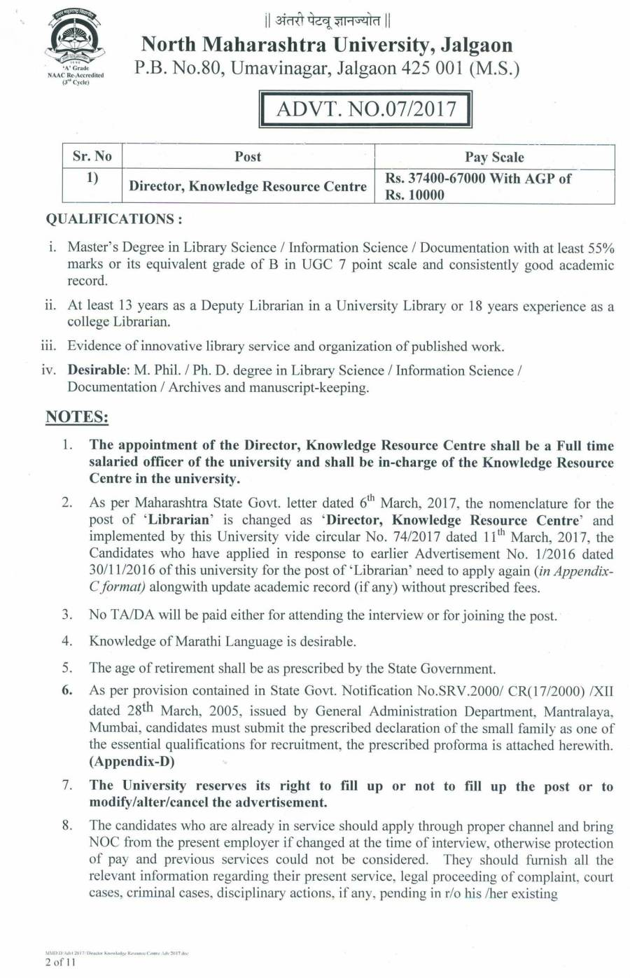 Advt 7 2017 Director Knowledge Resource centre-02.jpg