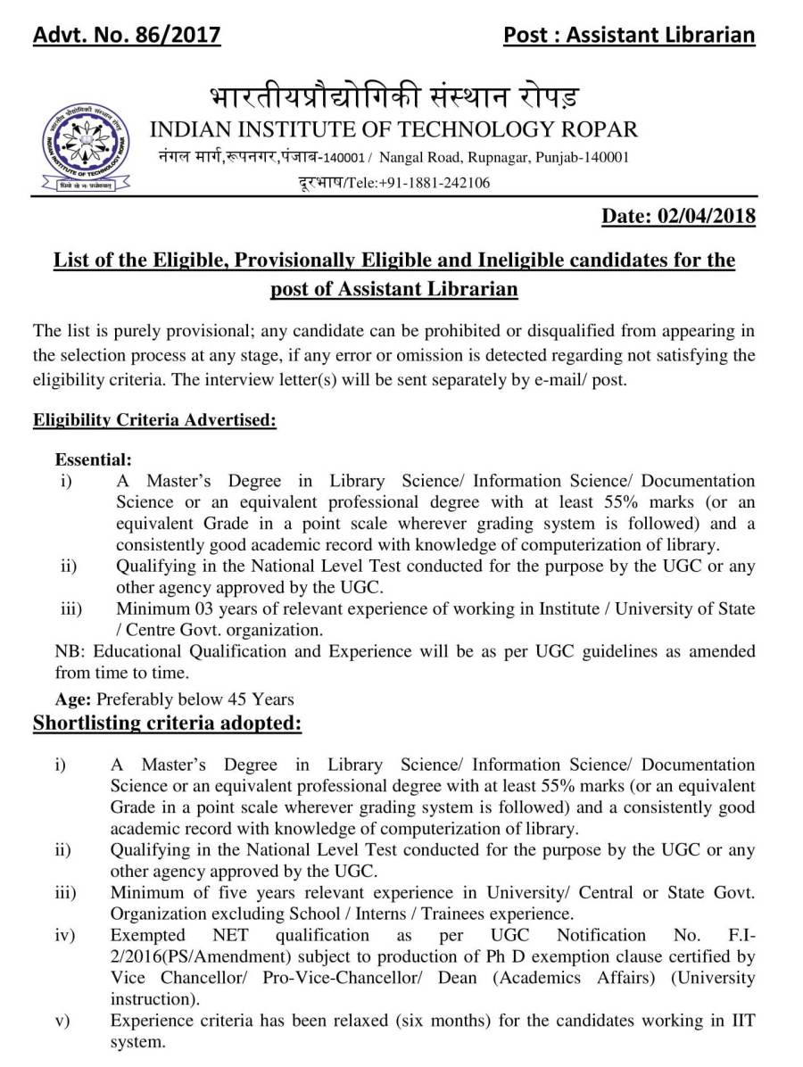 List of Eligible, Provisionally Eligible and Inelgible_Assistant Librarian-01.jpg