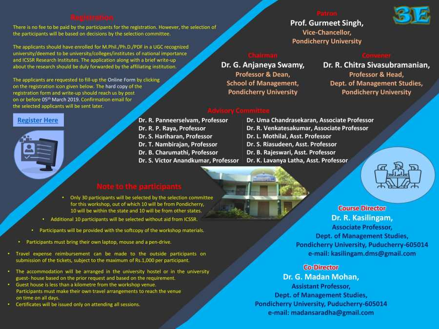 A Ten-Day Research Methodology Course for M Phil /Ph D /PDF Scholars
