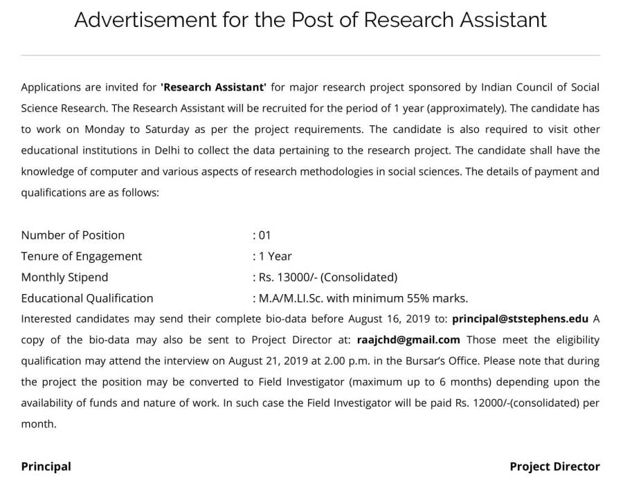 Project Position – Research Assistant – St. Stephen's College, Delhi-1.jpg
