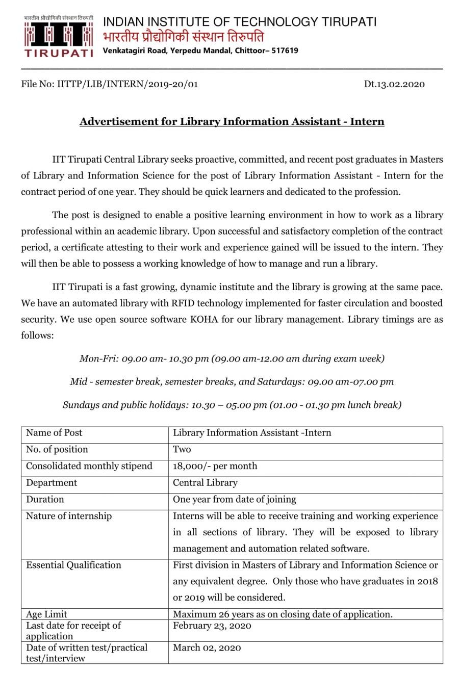 Assistant Interns - Advt-1