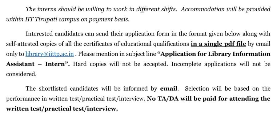 Assistant Interns - Advt-2