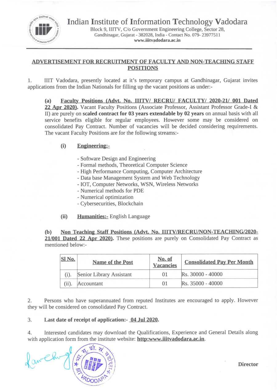 Newspaper Advertisement for Recruitment of Faculty and Non-Teaching Staff Positions-1