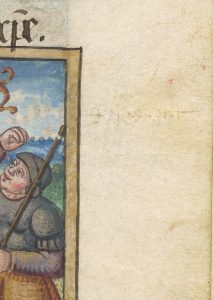 This is an image of fol. 108r from Free Library of Philadelphia Lewis E 107, Book of Hours, Use of Rome (Flanders, 1500 - 1525).