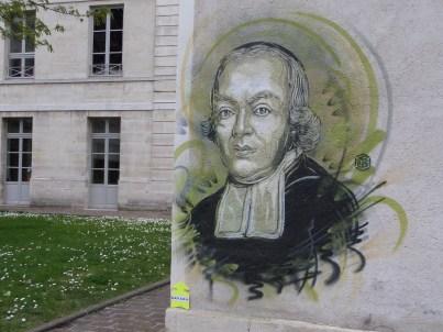 Portrait de l'Abbé de L'Épée sur un mur de l'INJS