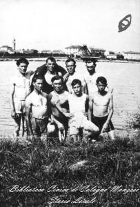 Gruppo di ragazzi al laghetto di Malnido, 1940