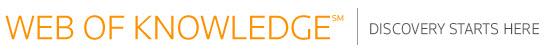 Logo de la plataforma Web of Knowledge en su nueva versión 5.2