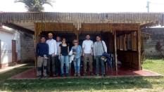El grupo al completo en la Central Asháninka del río Ene situada en la provincia de Satipo minutos antes de salir para Potoseni.