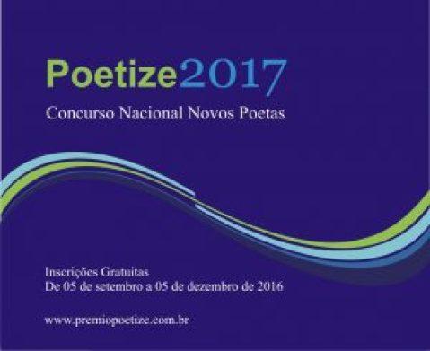 Estão abertas as inscrições para o Concurso Nacional Novos Poetas, Prêmio Poetize 2017
