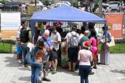 Foto: Ivo Gonçalves/PMPA. Natal com Literatura surpreendeu população em frente ao Paço