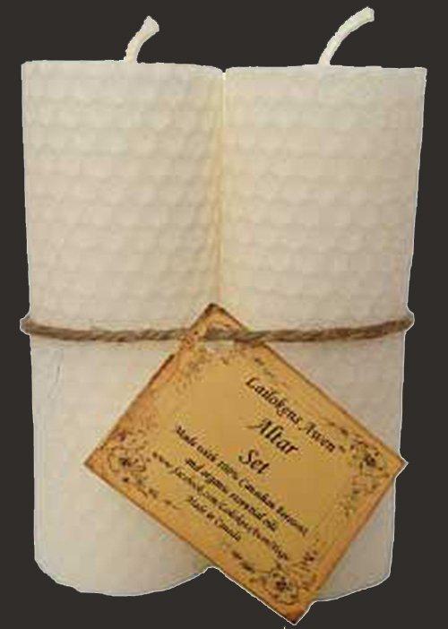 ALTAR SET WHITE CANDLES