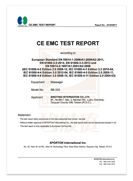 Certification CE01
