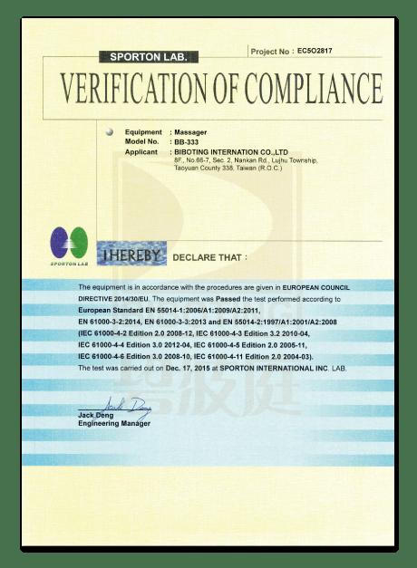 Certification CE02
