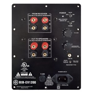 RtR Eviction Series RtR-EV1200 Powered Subwoofer Back Panel