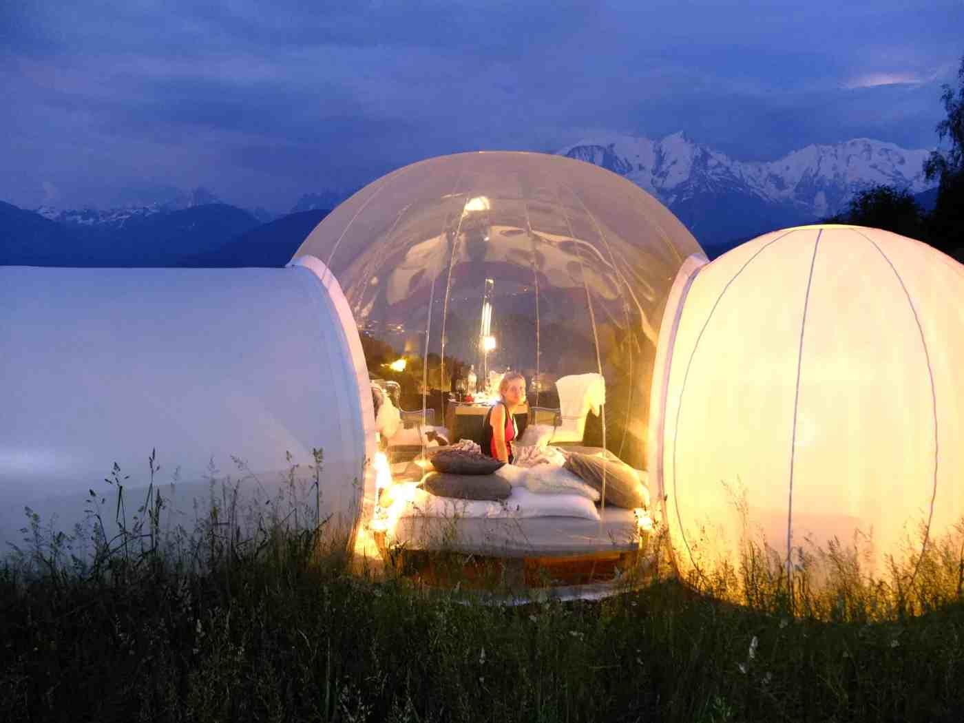 nuit insolite dormir dans une bulle