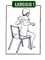 Juntar los Homoplatos, ejercicios para chepa ó joroba