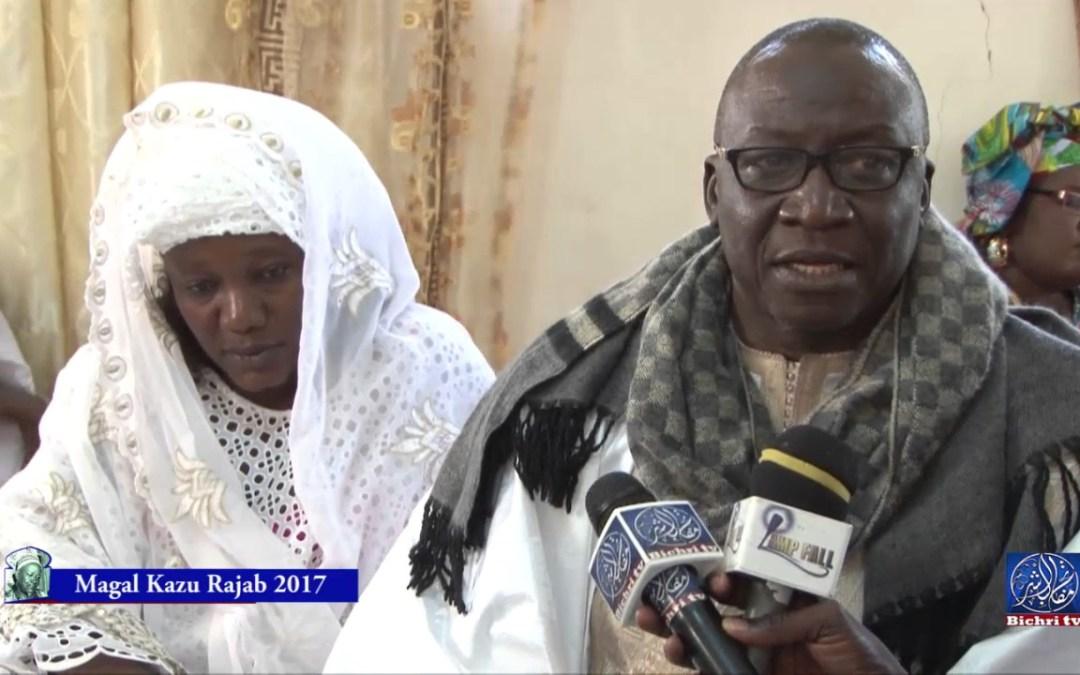 Magal Kazu Rajab 2017 Ziar chez la famille de serigne Fallou Mbacke