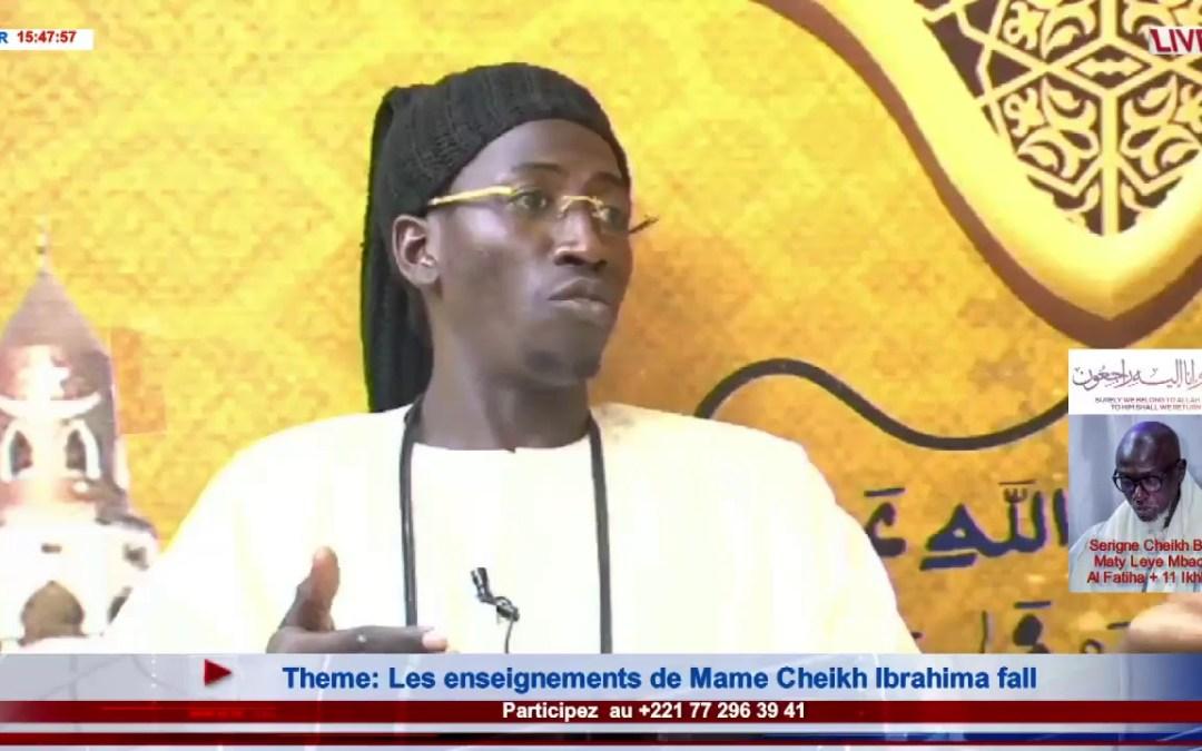 LIVE | Emission Kadduk Cheikh Ibra | Theme : Les enseignements de Mame Cheikh Ibrahima fall