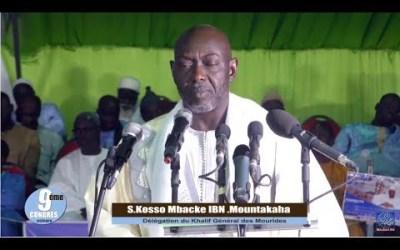 Congrès 2019  Discours de Serigne KOSSO MOUNTAKHA au nom du Khalife général Serigne Mountakha