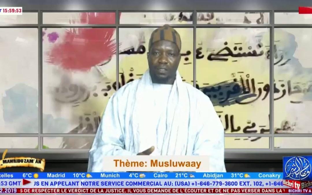 LIVE   Mawridu Zam'an   Thème: Musluwaay