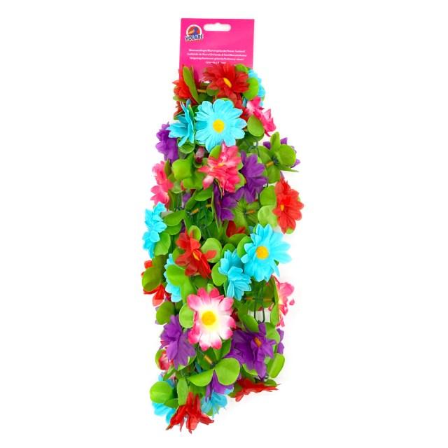 Guirnalda de flores para la bici –azul, rosa, morado -130 cm - Volare
