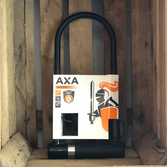 Candado U para bicicleta Newton UL – 300 x 14 mm negro – AXA