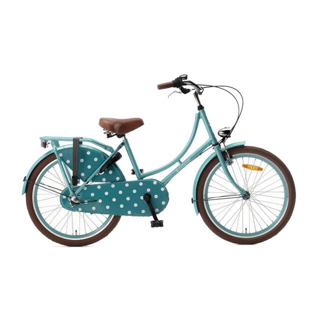 Bicicleta Holandés – N3 – 22 pulgadas – verde agua con lunares blancos – Popal