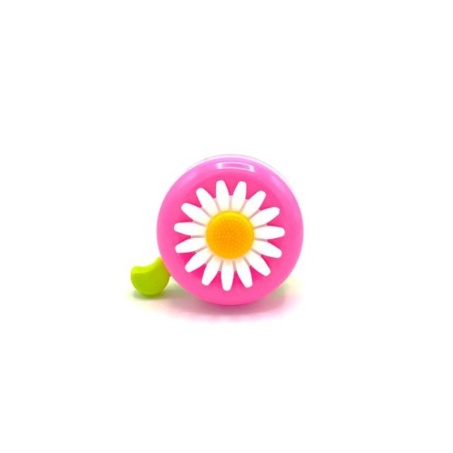 Timbre de bici – rosa con una Margarita