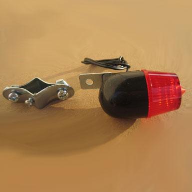 Piloto torpedo de dinamo para bicicleta color negro lateral