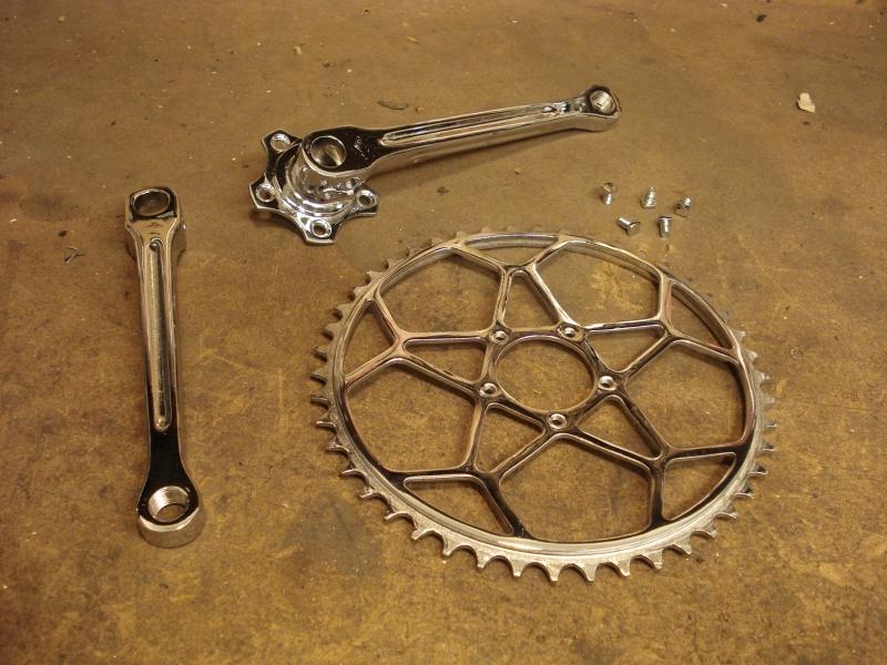 Cromado bicicletas antiguas madrid platos bielas y tornilleria