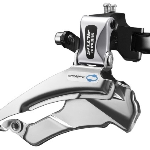 MENJAČ PREDNJI SHIMANO ALTUS FD-M313, TRIPLE, FOR REAR 7/8 BRZINA, DOWN SWING, DUAL PULL, BAND TYPE 34.9M (INCL. ADAPTOR 31.8 & 28.6MM), FOR 42/48T, CS ANGLE 66-69, IND.PACK