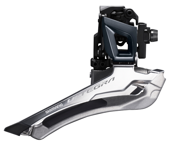 MENJAČ PREDNJI SHIMANO ULTEGRA FD-R8000, DOUBLE, FOR REAR 11 SPEED, DOWN SWING, BRAZED-ON, CS ANGLE 61-66, FOR 46/53T, CL 43.5MM, IND.PACK