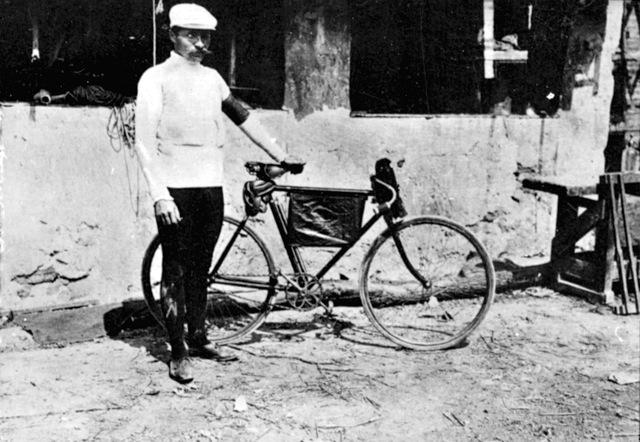 Maurice Garin in posa al Tour de France del 1904