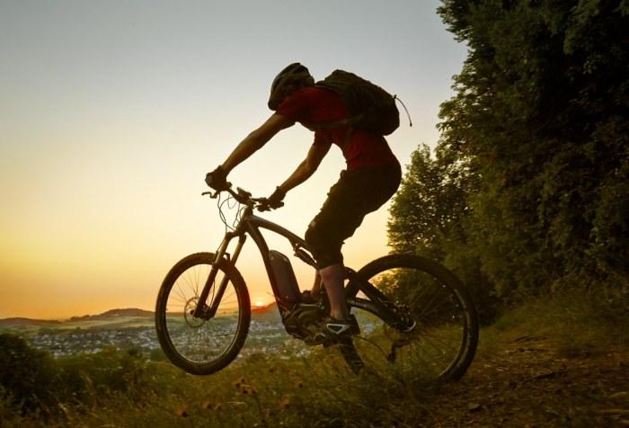 Immagine di un biker sulla sua emtb (mondoenergia)