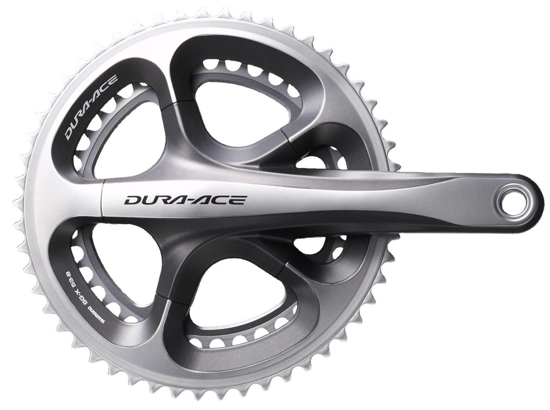 Guarnitura per bici da corsa Shimano Dura Ace Hollowtech II con corone da 53/39 denti (chainreaction.com)